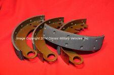 Willys CJ2A CJ3A, MB, M38, Ford GPW.  Brake Shoe Set. New, High Quality. 9 Inch.