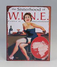 Cartello Pubblicità Targa di latta ragazza Pin-Up Bar Vintage Nostalgia 9973218
