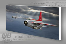 F.6 Lightning, 5 squadron CANVAS PRINT, Digital Artwork.
