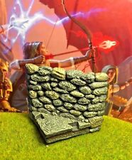 "2"" x 1"" painted Dungeon Room Diagonal Wall D&D Dwarven Forge Master Maze terrain"
