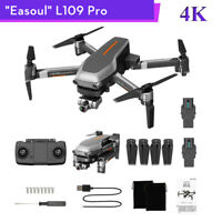 L109 Pro Foldable GPS 5G WIFI Drone 6-Axis Quadcopter 4K FPV Cam W/ 2 Batteries