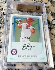 BRYCE HARPER 2011 Bowman #1 Draft Pick Intl SP Rookie Card RC BGS 9,5 GEM MINT