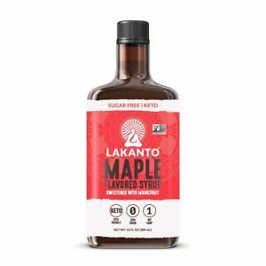 LAKANTO Sugar Free Monkfruit Maple Flavored Syrup 13oz KETO - Diabetic Sweetener