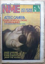 NME 11 JUN 1983 AZTEC CAMERA ANGRY SAMOANS BOWIE JIMMY THE HOOVER BOY GEORGE