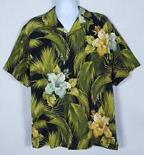 Tommy Bahama Hawaiian Shirt Men's M Short Sleeve Button Front Silk Floral Camp