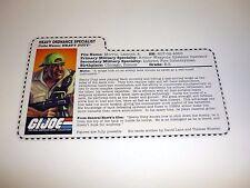 GI JOE HEAVY DUTY FILE CARD Vintage Figure Mobat Driver AWESOME SHAPE 1998