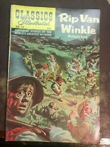 Classics Illustrated  Rip Van Winkle by Irving #12 HRN#169 1970 firm cover
