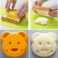 1Pc Cute Lovely Yellow Cute Bear Plastic Sandwich Toast Maker Bread Cutter Mold