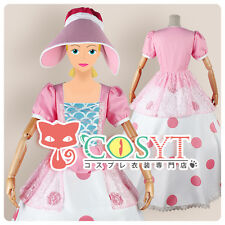 COSYT Movie Toy Story Bo Peep Cosplay Costume Pink Dress Custom Made With Hat