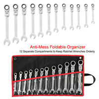 12 PC 8 - 19 mm Metric Combination Wrench Set Flexible Head Ratchet Spanner US