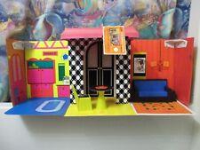 1968 Vintage Mattel Barbie Vinyl Folding Case/Family House W/Furniture-Orig Tag!