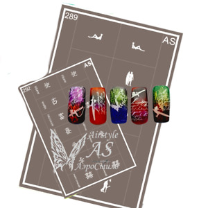 Stencils for Airbrushing in Nail Art Reusable Very strong Self-adhesive AirStyle