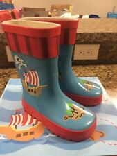 STEPHEN JOSEPH Pirate Rainboots Rain Boots Size 7 NEW WITH BOX