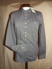 Classic Collar Cotton Blend Fitted Business Women's Tops & Shirts