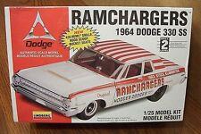 LINDBERG RAMCHARGERS 1964 DODGE 330 SS 1/25 SCALE MODEL KIT