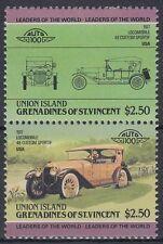 St. Vincent Grenadines Union 1985 ** Mi.76/77 Autos Cars Locomobil 48 [sq6475]