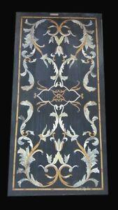 Marble Dining Center Table Top PietraDura Floral Inlay Handmade Work