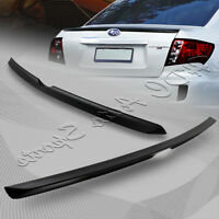 For Subaru Impreza WRX STI Unpainted Black TS Style ABS Rear Trunk Lip Spoiler