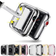 Apple Watch Series SE 6 5 4 3 Soft TPU Bumper iWatch Screen Protector Case Cover