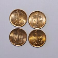 1965, 1 Cent Netherlands a Lot of 4 UNC / or High Grade Value Coins