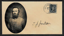Stonewall Jackson collector envelope w original period stamp 155 years old *A10