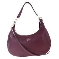 Auth Coach 2WAY Leather Shoulder Bag Bordeaux (close To Brown) 07GA279