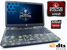 "Cheap Gaming Laptop HP 15G 15.6"" AMD A8 Quad Core 8GB RAM 1TB HDD Radeon R5 PC"