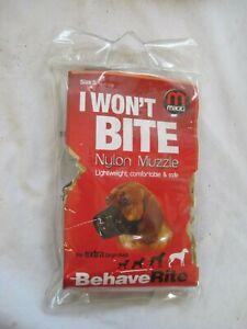 MIKKI Nylon DOG MUZZLE Size 5 for Extra Large DOGS ROTTWEILER Bullmastiff