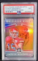 2017 Patrick Mahomes II Donruss Gridiron Kings Optic RC Rookie PSA 9 MINT!