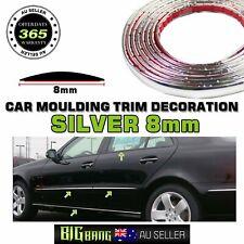 8mm Silver Chrome Moulding Trim Car Windows Side Grille Decoration Strips 6Meter