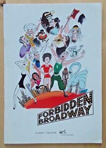 Forbidden Broadway programme Albery Theatre 1999 Mark O'Malley Christine Pedi