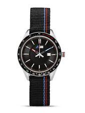 Reloj de pulsera BMW Genuine M Logo para hombre Negro Correa de Nylon Impermeable 80262406693