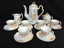 Rarität!!! Carl Tielsch & Co. Jugendstil Kaffee Tee Service vor 1890 Porcelain