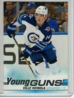 VILLE HEINOLA 2019-20 UPPER DECK YOUNG GUNS ROOKIE CARD # 204 - WINNIPEG JETS
