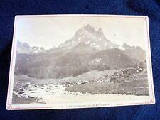 OLD ALBUMEN/CABINET CARD: LES EAUX-CHAUDES~PIC DU MIDI D'OSSAU~ca 1875