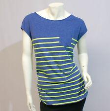 Irie Daily Seefrau Pocket Tee 1364165-329 T-Shirt Damen blau grün gestreift Gr M