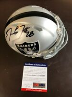 Josh Jacobs Alabama Authentic Signed Raiders Speed Mini Helmet PSA/DNA COA