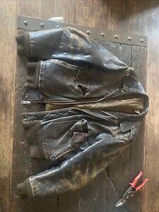 ww2 leather flight jacket us military Sz Large