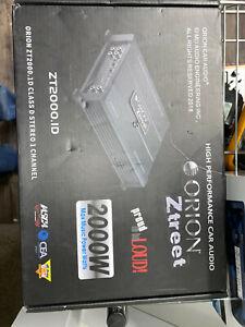 ORION ZT2000.ID ZTREET CLASS D MONO CHANNEL 1 OHM STABLE AMPLIFIER 2000 WATTS