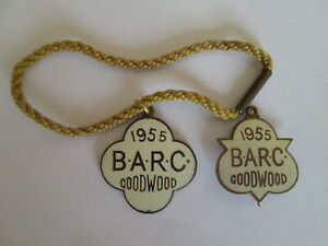 BARC. Goodwood badges 1955.motor sport badge.Racing. Goodwood racing.