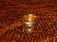 Vintage Solid 9ct Gold Yellow Gold Wedding Band 2.76g size N
