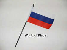 "RUSSIA SMALL HAND WAVING FLAG 6"" x 4"" Russian Crafts Table Desk Top Display"