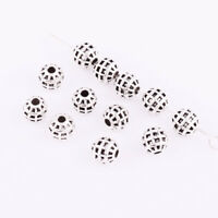 30/300pcs Tibetan Silver Round Shape Loose Spacer Beads Jewelry Making 6mm