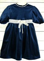 Thomas Party Dress Navy Blue Puffed short sleeves Girl 5  Excellent Condition