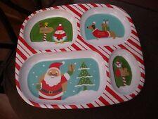 Christmas DACHSHUND DOG Holiday Divided Plate - Santa - BRAND NEW