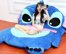 Cartoon Lilo & Stitch Tatami Sofa Filled Bed Carpet Beanbag Mattress Xmas Gift