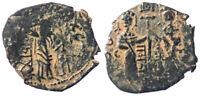 Zangid Nur al-Din Mahmud AE Dirhem Imitation Byzantine Constantine X AE Follis