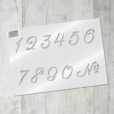 French Numbers Stencil Set -  Wall Stencil -Crafts - Shabby Chic Stencil 10659