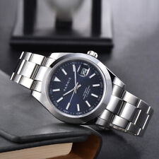 39mm parnis Blue dial Steel sapphire miyota automatic mechanisch Uhr men's Watch