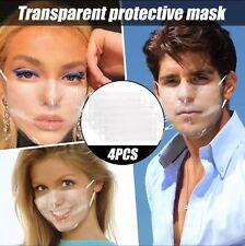 Face Mask Clear Transparent Cover Washable Reusable Adult Kids Unisex USA Seller